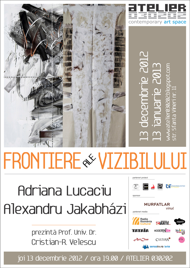 """Adriana Lucaciu & Alexandru Jakabhazi """"Frontiere ale vizibilului"""" @ Atelier 030202, București"""