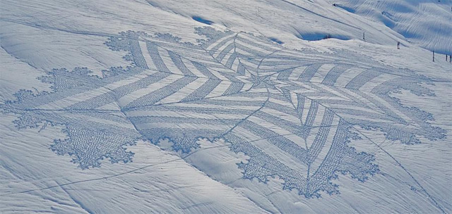 New Trampled Snow Art from Simon Beck