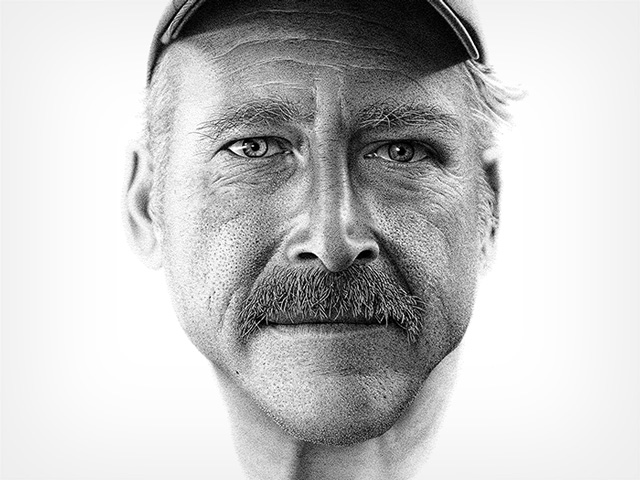 A Portrait Drawn by Hand with 2.1 Million Ink Dots to Aid Amnesiac Benjaman Kyle
