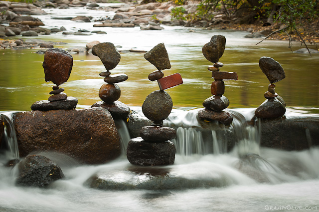 The Balanced Rock Sculptures of Michael Grab Rely Solely on Gravity