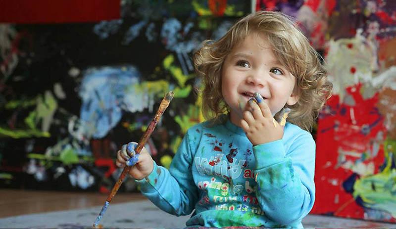 Aelita Andre – la 4 ani a vandut pictura de un milion de dolari