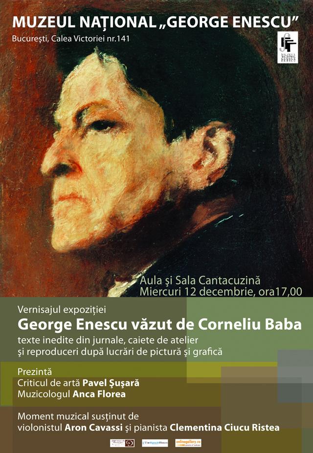 """Enescu văzut de Baba – """"prezenţa unui geniu al muzicii în pictura unui obsedat al paletei"""" @ Muzeul Naţional """"George Enescu"""" București"""