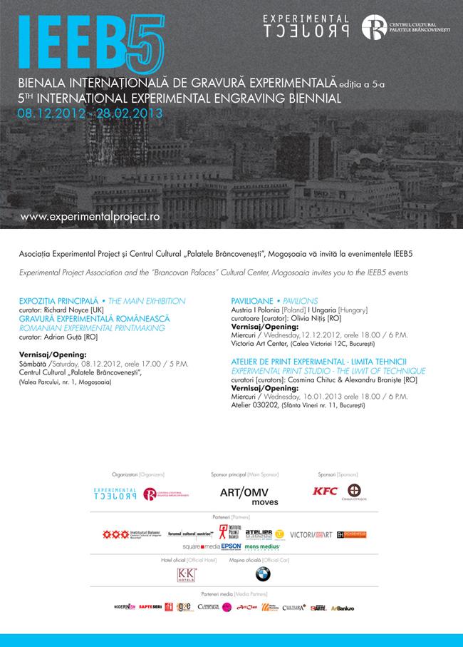 Deschiderea celei de-a 5-a ediţii a Bienalei Internaţionale de Gravură Experimentală (IEEB)