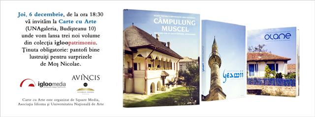 Trei volume noi din colectia igloopatrimoniu