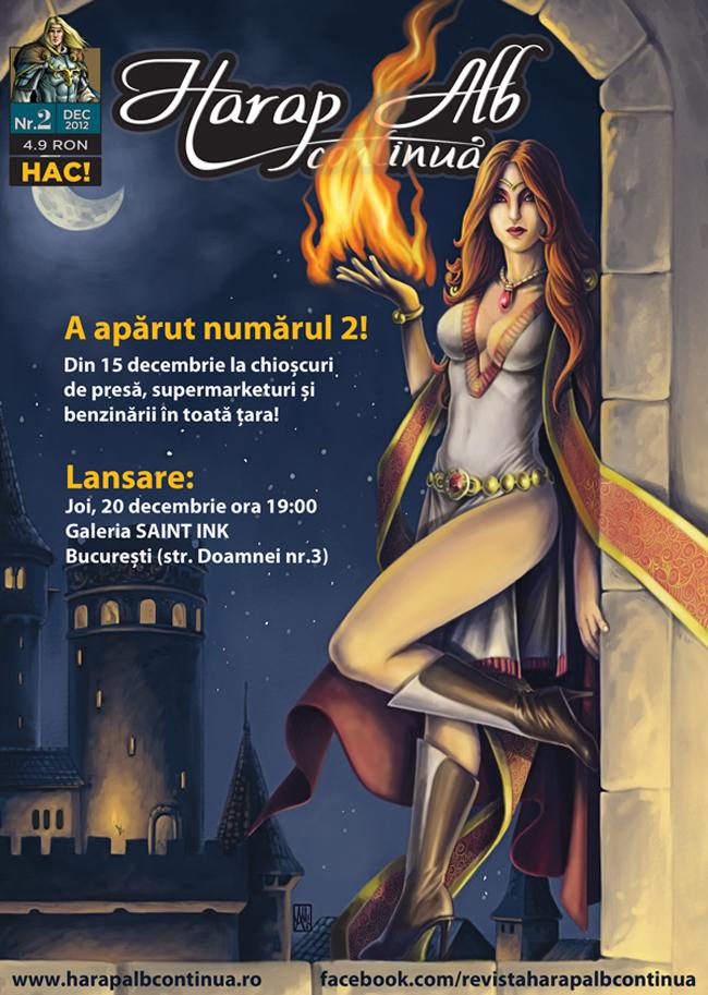"""Lansare """"Harap Alb continuă"""" @ Galeria Saint Ink din București"""