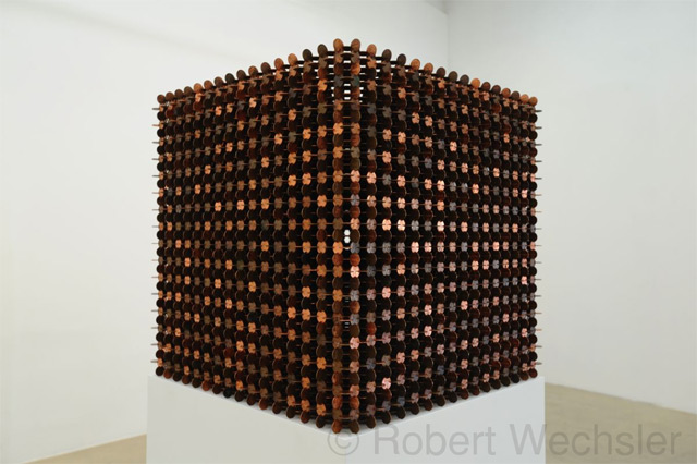 Sculptural Cubes Made from Thousands of Pennies by Robert Wechsler