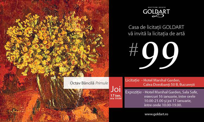 """""""Culorile Modernismului"""" prima licitație din 2013 a Casei GOLDART"""