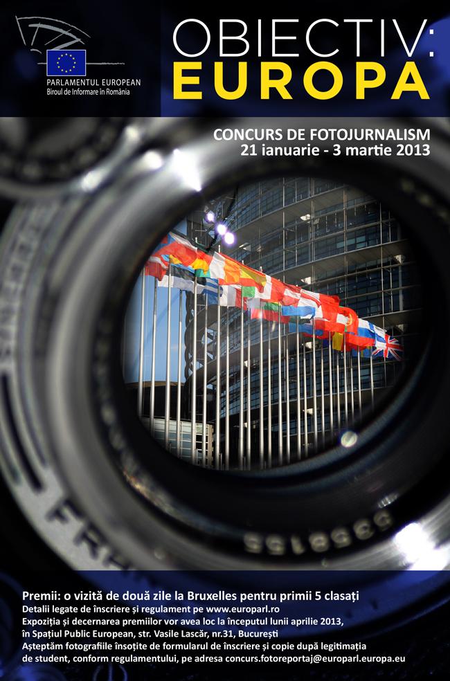 "Concurs de fotojurnalism ""Obiectiv: Europa"""
