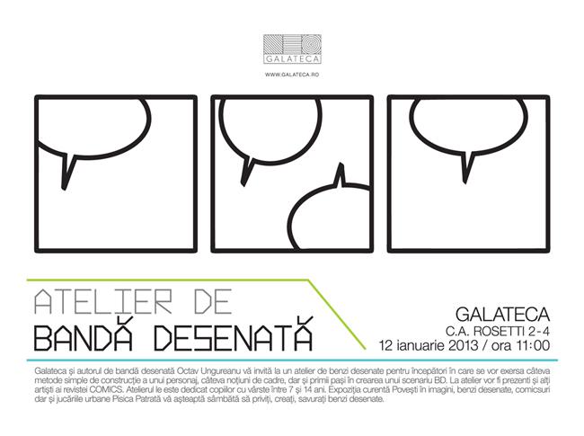 Atelier de benzi desenate la Galateca