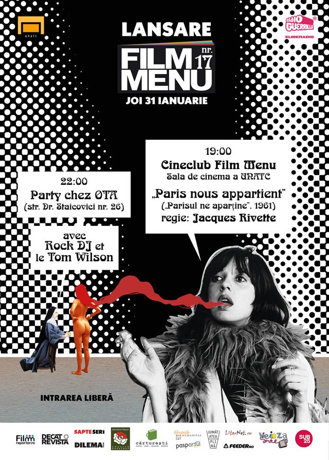 Lansarea numărului al 17-lea al revistei FILM MENU, cu film și party