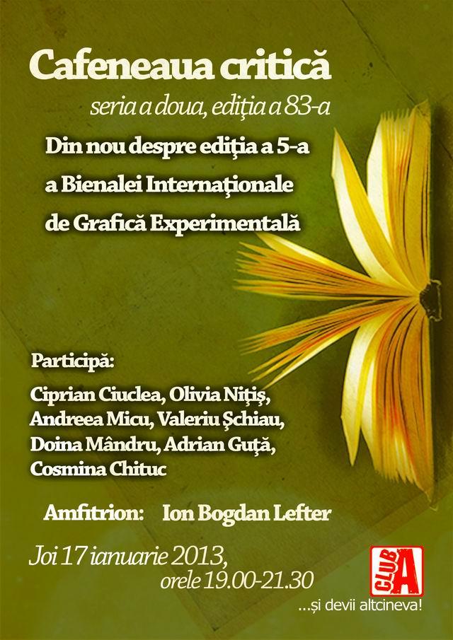Bienala Internationala de Grafica Experimentala @ Cafeneaua critica