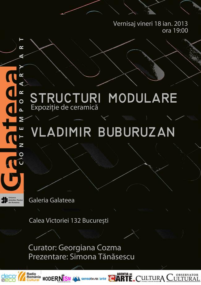 """Vladimir Buburuzan """"Structuri modulare"""" @ Galeria Galateea, București"""
