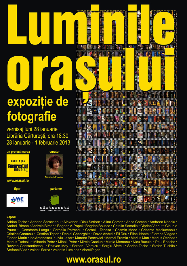 """Expoziția """"Luminile orașului"""" la librăria Cărturești, Verona, București"""