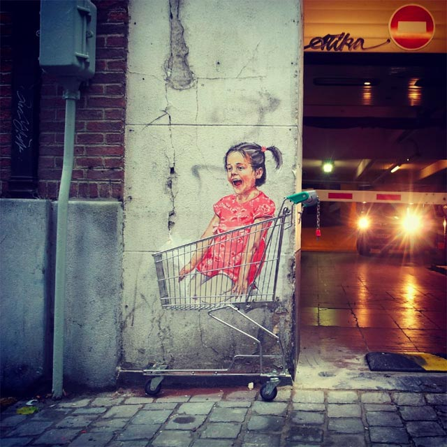 New Interactive Street Art from Ernest Zacharevic