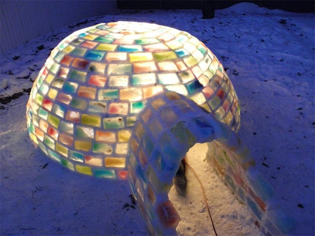 How to Build a Rainbow Igloo