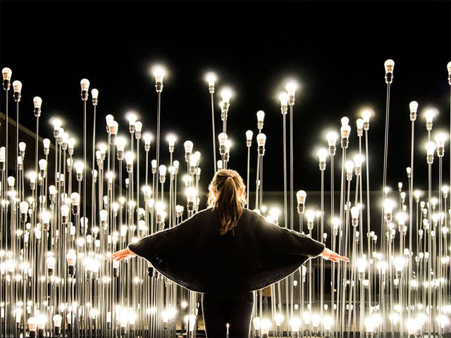 LEDscape: A Lightbulb Landscape in Portugal