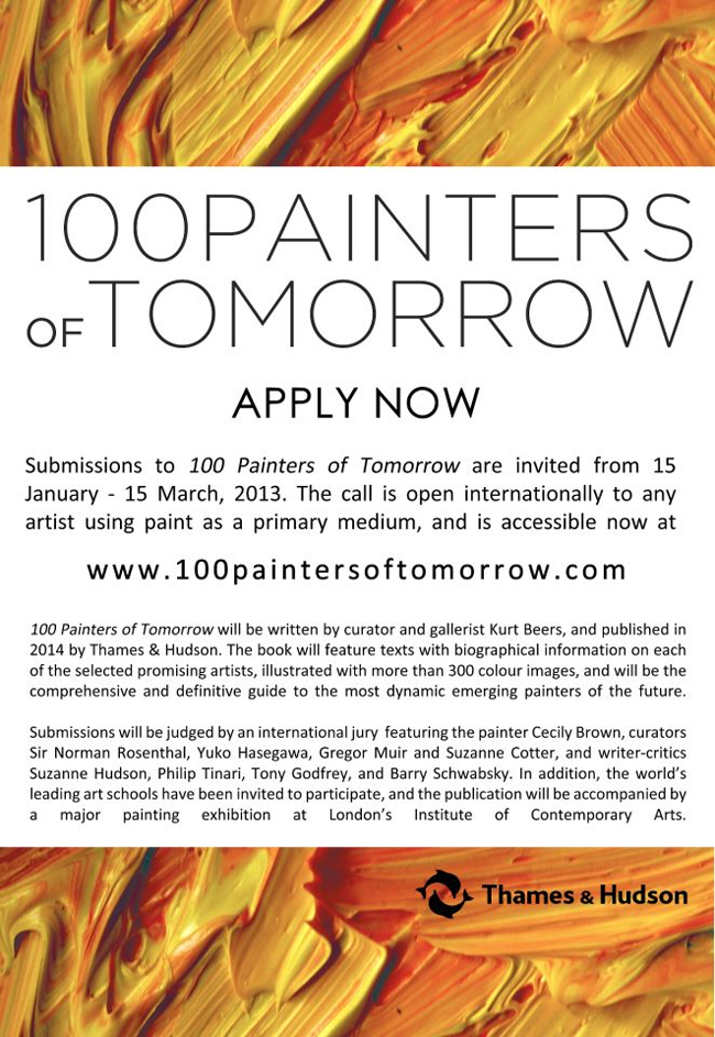 100 Painters of Tomorrow – open call submission