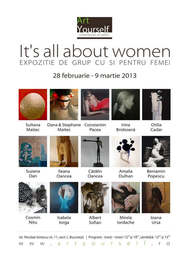 """It's all about women"" @ Art Yourself, București"