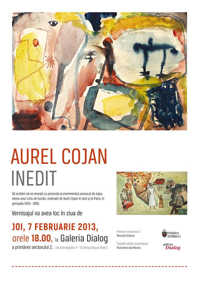 Aurel Cojan, Inedit @ Galeria Dialog A Primariei Sectorului 2