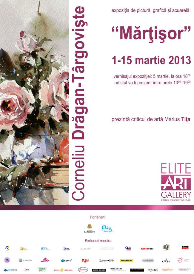 """Corneliu Drăgan Târgovişte, expoziţia de grafică şi pictură """"Marţisor"""" @ Elite Art Gallery, București"""