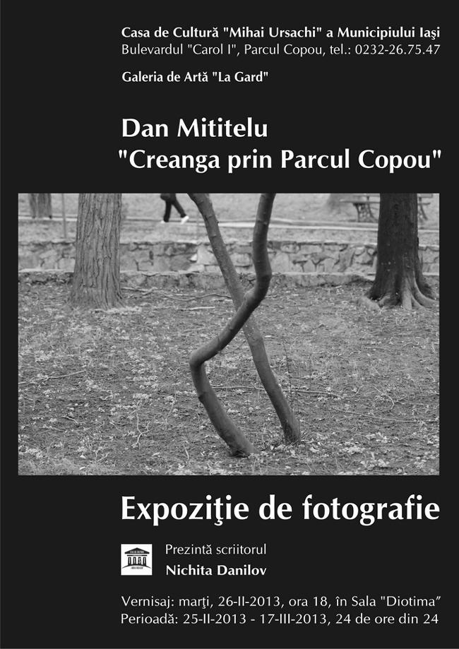 """Dan Mititelu, """"Creanga prin Parcul Copou"""" @ Casa de Cultură """"Mihai Ursachi"""" a Municipiului Iaşi"""