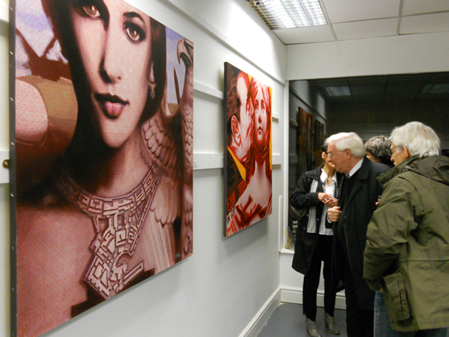 """""""End of Empires"""", featuring original paintings by Romanian contemporary artists @ Corke Art Gallery, Liverpool"""