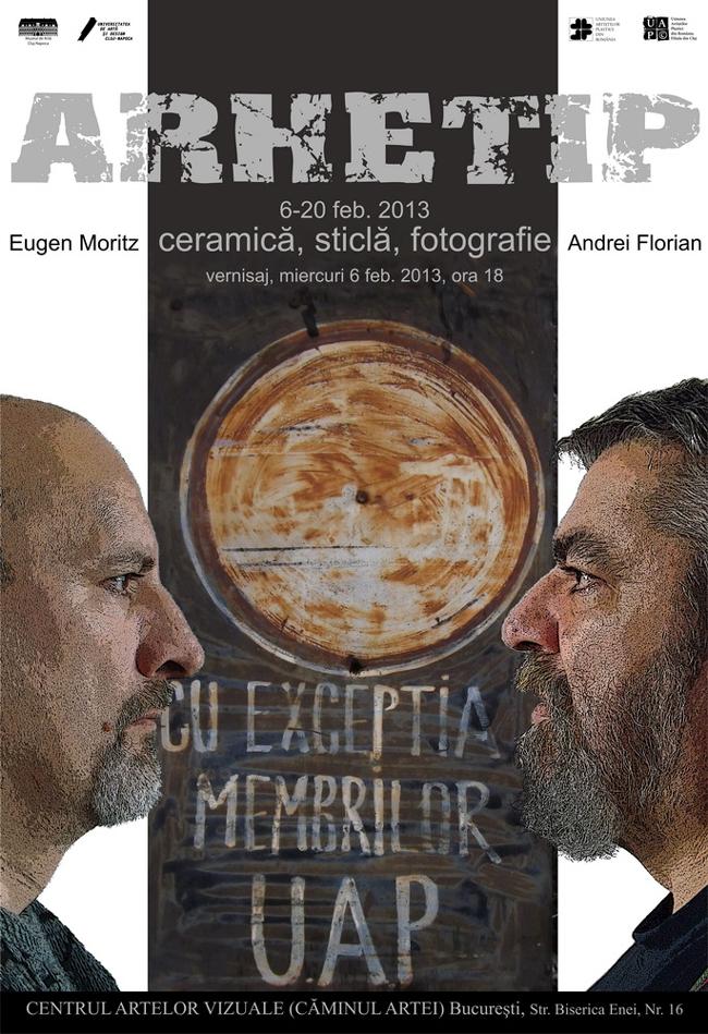 Eugen Moritz și Andrei Florian expoziție de ceramică sticlă și fotografie @ Centrul Artelor Vizuale, Caminul Artei, București