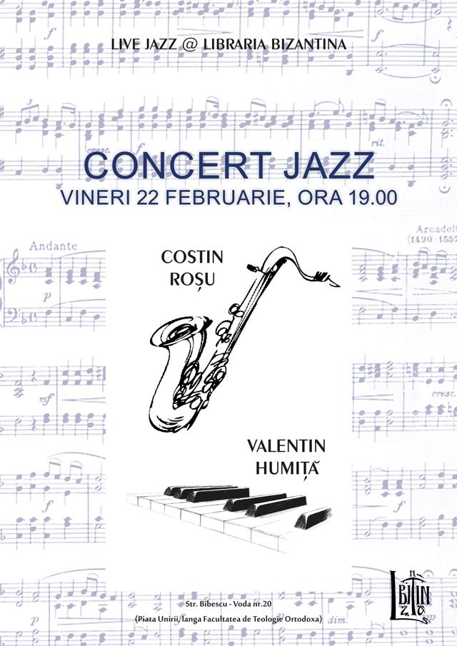 LIVE JAZZ cu Valentin Humita (pian) si  Costin Rosu (saxofon) @ Libraria Bizantina Bucuresti
