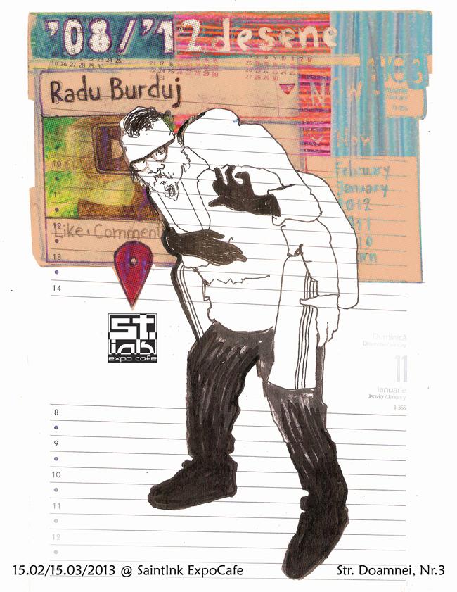 "Radu Burduj ""2008-2012 desene"" @ Galeria SaintInk, București"