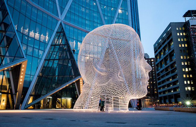 Giant Head Sculpture You Can Walk Through by Jaume Plensa