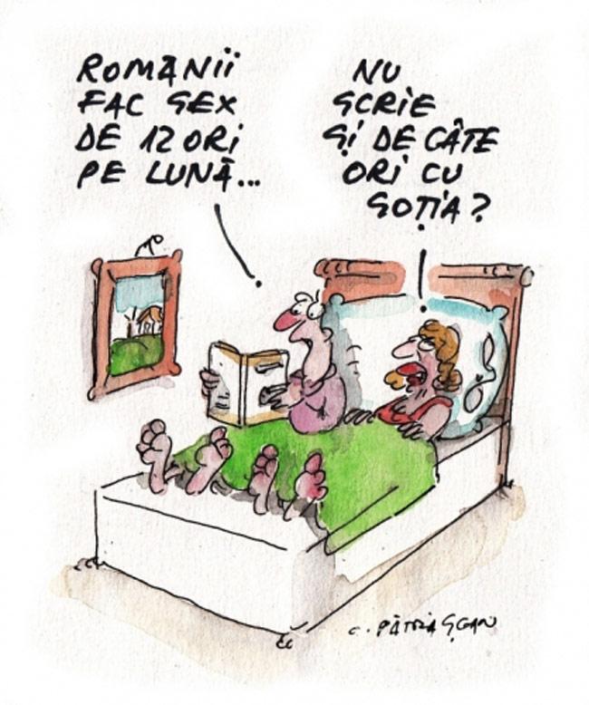 Românii fac sex de 12 ori pe lună…