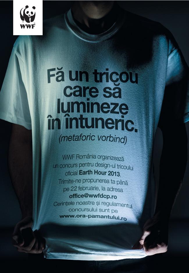 WWF-România caută un vizual creativ pentru tricoul oficial Earth Hour