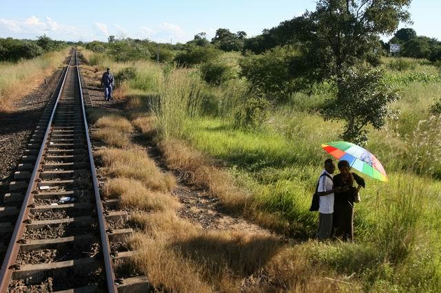 Cu trenul in Zambia