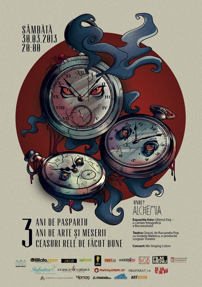 Asociaţia Paspartu şi Revista Arte & Meserii sărbătoresc 3 ani de artă și cultură