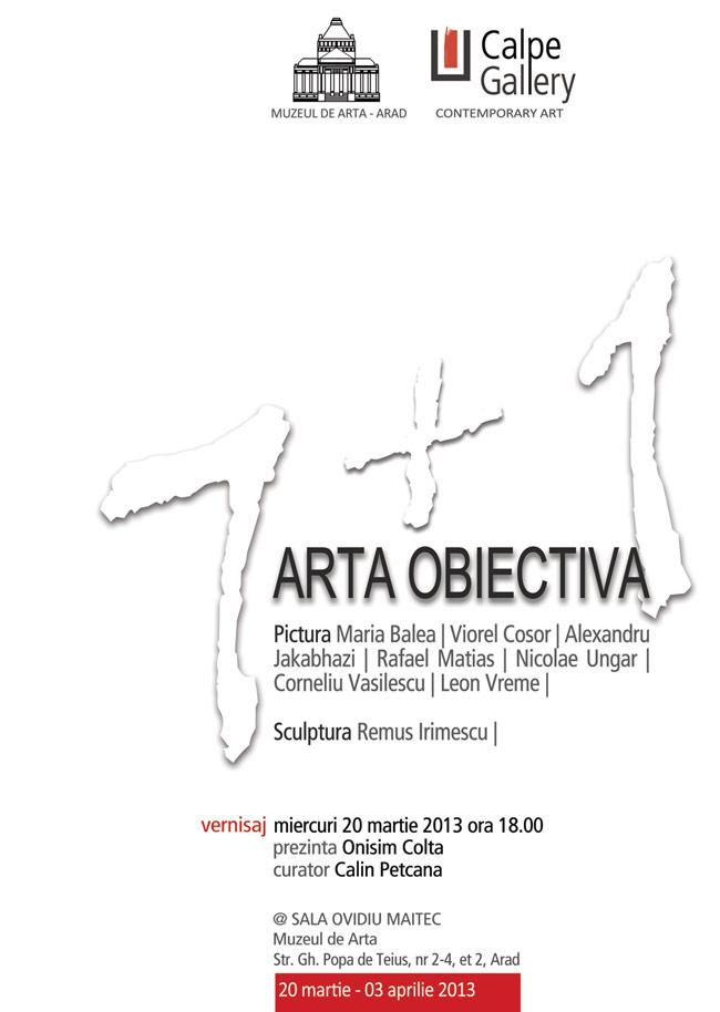 ARTA OBIECTIVA 7+1 @ Muzeul de Arta din Arad
