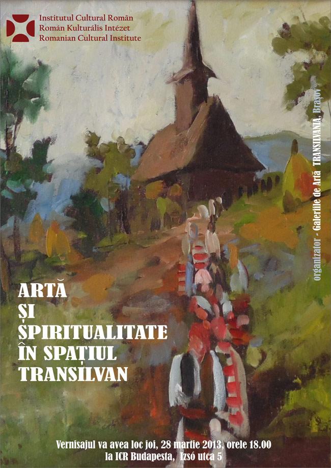 """""""Artă și spiritualitate în spațiul transilvan"""" @ ICR Budapesta"""