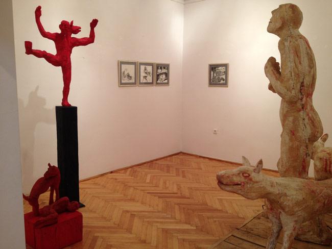 """Aurel Vlad """"Spaima"""" @ Galeria Uj Kriterion din Miercurea Ciuc, imagini"""