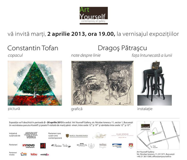 Constantin Tofan și Dragoș Pătrașcu @ Art Yourself, București