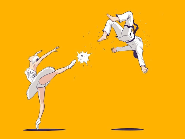 Swan Kick by Chow Hon Lam