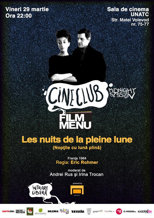 Les nuits de la pleine lune / Nopţile cu lună plină @ sala de cinema a UNATC București