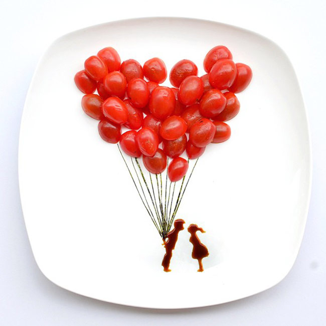 Artist Red Gets Creative With Her Food