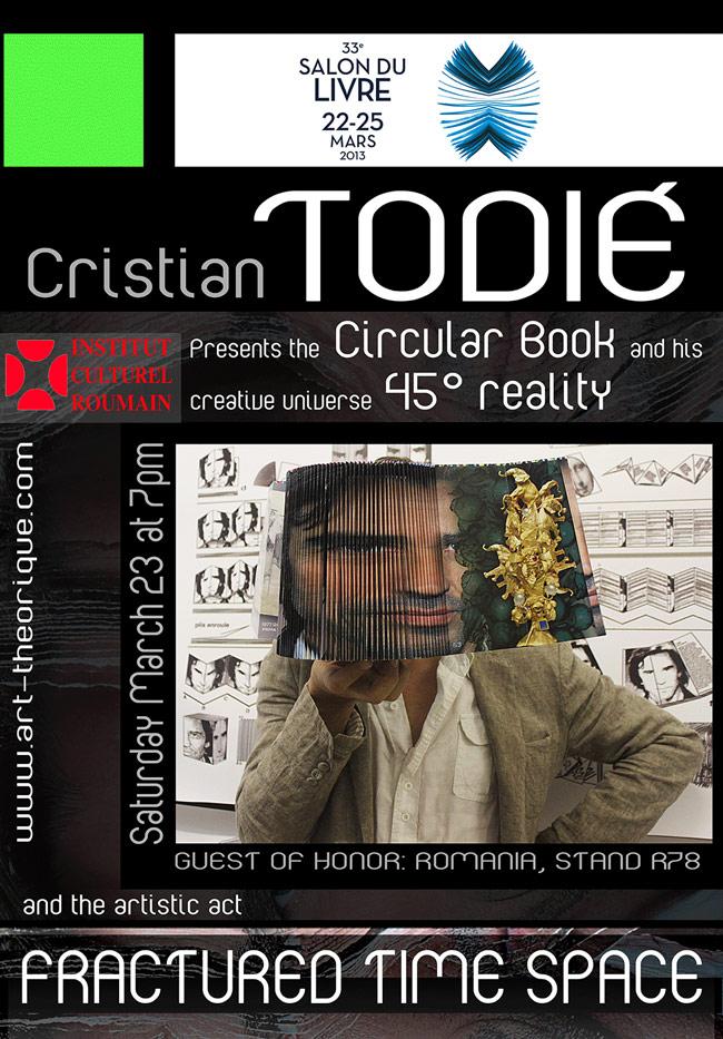 Cristian Todie present the revolutionary Circular Book @ Salon du Livre de Paris, 2013