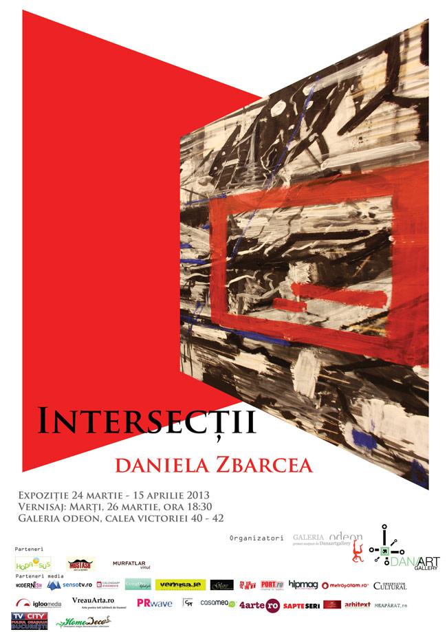 """Daniela Zbarcea """"Intersecții"""" @ Galeria Odeon, București"""