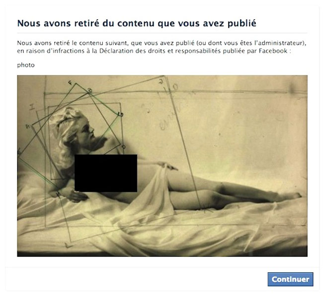 Facebook Censors Paris's Jeu de Paume, Threatens To Deactivate the Museum's Account