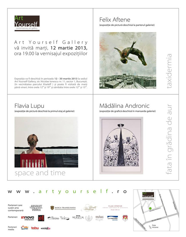 Felix Aftene, Flavia Lupu, Mădălina Andronic @ Art Yourself Gallery, București