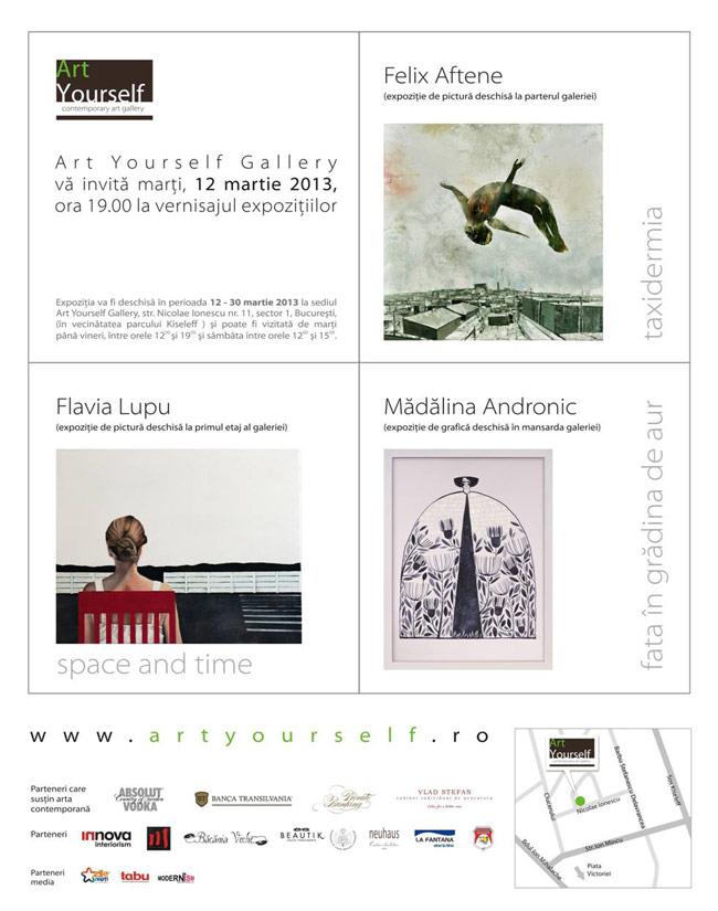 Felix Aftene, Flavia Lupu, Mădălina Andronic @ Art Yourself Gallery, București