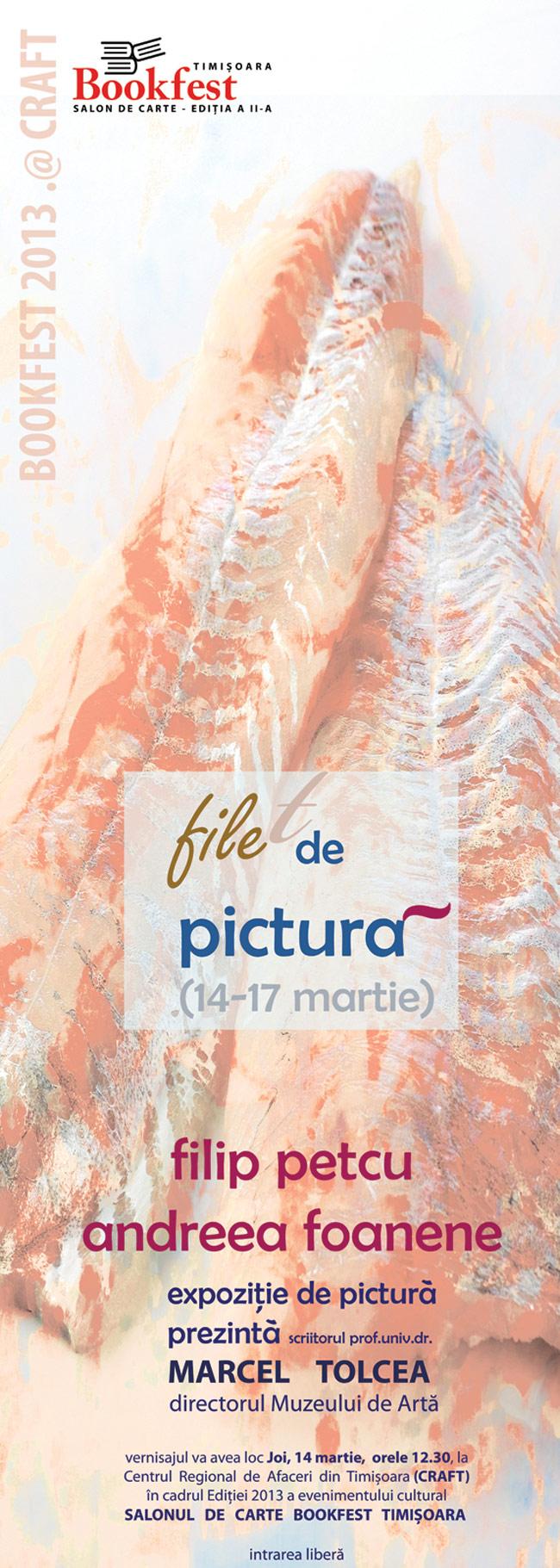 """Andreea Foanene și Filip Petcu """"File de pictură"""" @ Salonul de Carte Bookfest, Timişoara 2013"""