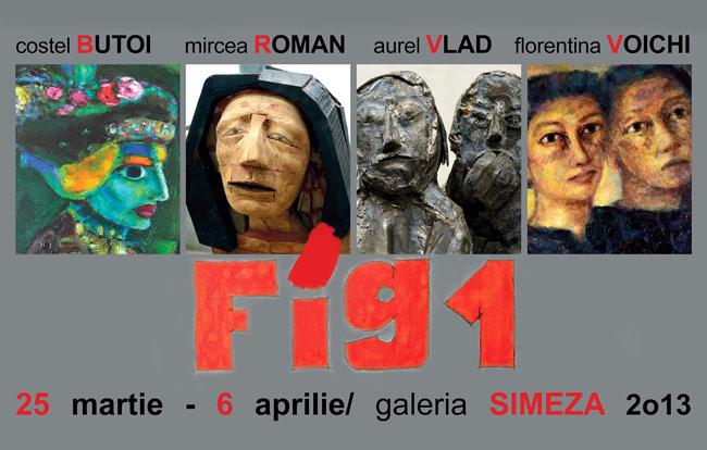 Florentina Voichi, Costel Butoi, Mircea Roman şi Aurel Vlad @ Galeria Simeza, București