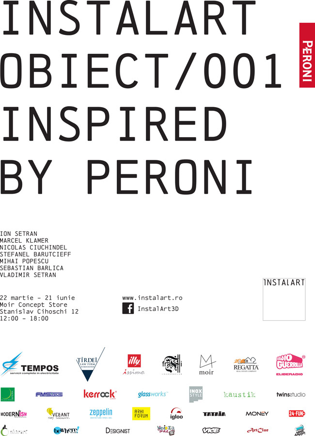 Instalart/ Obiect/ 001- Inspired by Peroni