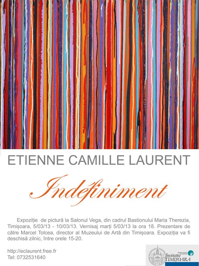 """Etienne Camille Laurent, """"Indéfiniment"""" expoziție de pictură la Salonul Vega, din cadrul Bastionului Maria Therezia, Timișoara"""